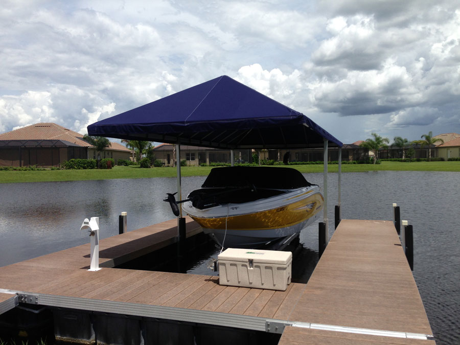 Floating Dock With Canopy